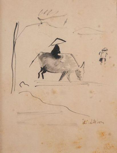 MIDLETON, Hanoi, annamite,encre37 x 27 cm...