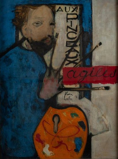 Philippe CARA COSTEA ( 1925-2006), autoportrait,...