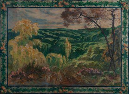 jean Gabriel Goulinat (1883-1972), Provence,aquarelle...