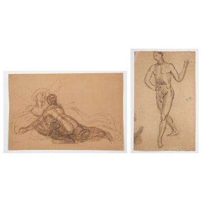 MARCEL LENOIR (1872-1931) Nu masculin - Descente...