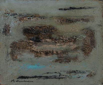 Philippe HAUCHECORNE(1907-1976), composition,toile....