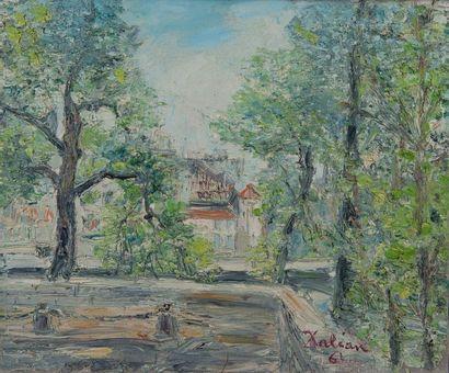 DALIAN, propriété,toile signée. 46 x 55 cm...