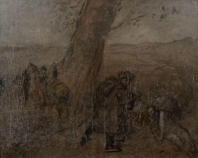 Attribué à Jean-Louis FORAIN (1852-1931) Deux...
