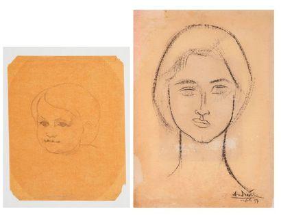 Constantin ANDREOU (1917-2007) Portrait de...