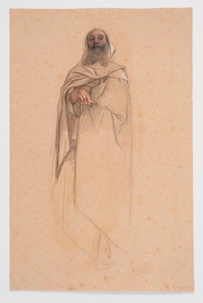 Charles LANDELLE (1821 - 1908). Portrait...