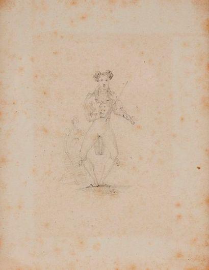 Joseph Alexandre DESENNE, attribué à  Violonniste...