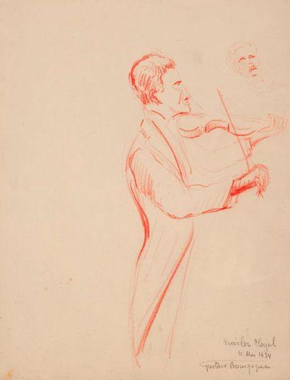 Gustave BOURGOGNE  Violonniste, Kreisler...