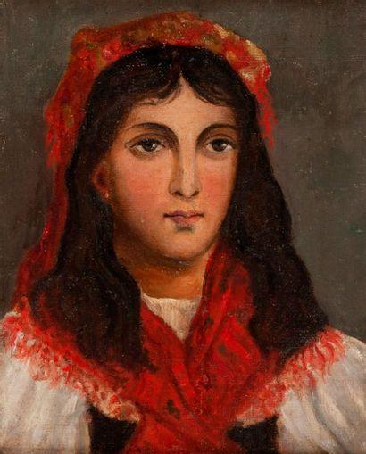 Olga KALACHNIKOVA, attribué  Portrait d'une...