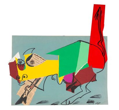 Bernard LORJOU (1908-1986) Personnage. Technique...