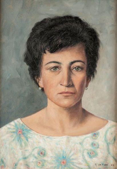 P.INTINI  Portrait présumé de la femme de...