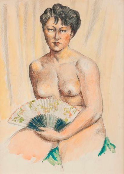 Ecole MODERNE vers 1930  Portrait de femme...