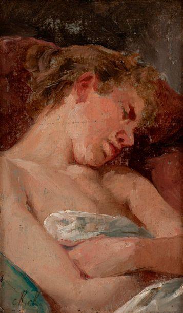Ecole française XIXe  Portrait de jeune femme...