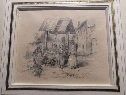 Ecole FRANCAISE du XIXe siècle  Les paysans...