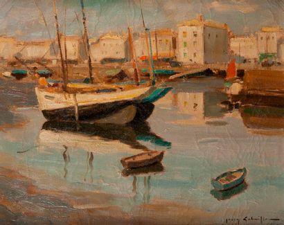 Jean GOBAILLE (1895-1969)  Port de l'ile...