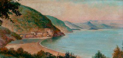 L. GRANATA (1906-1964), paysage orientaliste,...