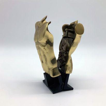 Miguel BERROCAL (1933-2006) Torse épigastrique (opus n°377), 1989  Sculpture en bronze...