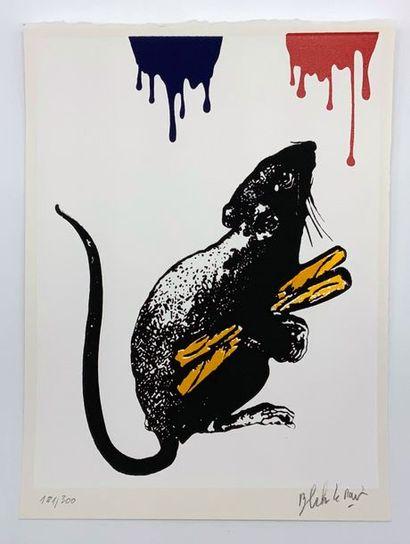 BLEK LE RAT (Français, né en 1952) Rat N°5, 2019  Sérigraphie en couleurs sur papier,...