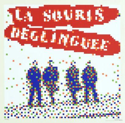 INVADER (Français, né en 1969) La Souris Deglinguée, 2014  Sérigraphie en couleur...