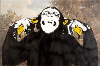 DOT DOT DOT (Norvégien) DOT DOT DOT (Norwegian)  Monkey business  Spray paint and...