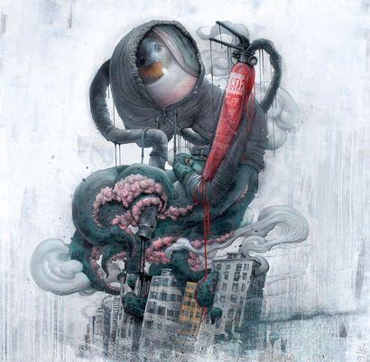 BOM.K (Français, né en 1973) BOM.K (French, born 1973)  Vandal Monster, 2013  Spray...