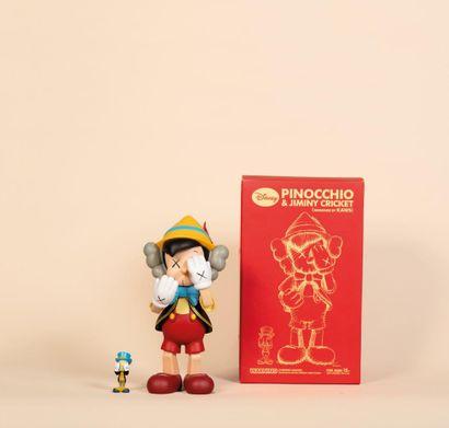 KAWS (Américain, né en 1974) KAWS (American, born 1974)  Pinocchio & Jiminy Cricket,...