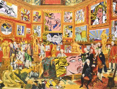 GULLY (Français, né en 1977) GULLY (Français, né en 1977)  Johann Zoffany Meets Lichtenstein,...