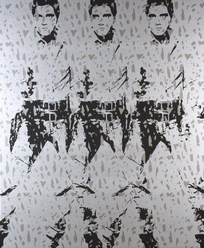 FENX (Français, né en 1974) FENX (Français, né en 1974)  ... Elvis, 2017  Acrylique...