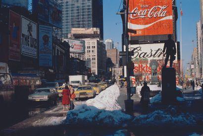 AFP AFP  New York sous la neige en février 1978.  Photographie en couleur, tirage...