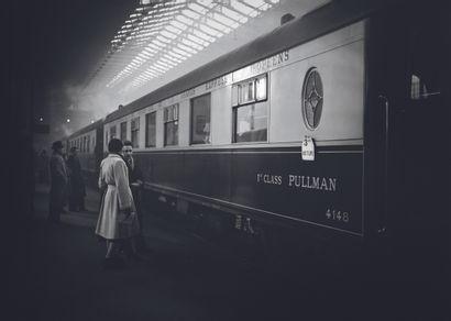 AFP AFP  Départ du « Train bleu » Paris-Vintimille de la « Compagnie internationale...