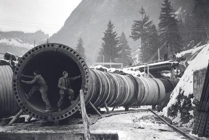 AFP AFP  Le site de construction du barrage hydroélectrique des Houches, près de...