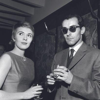 AFP AFP  L'actrice américaine Jean Seberg et le réalisateur français Jean-Luc Godard,...