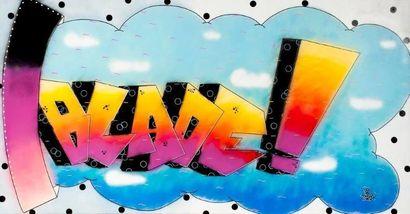 BLADE (Américain, né en 1958)  Funk Through Funky, 1992  Peinture aérosol et marqueur...