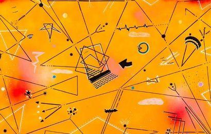 BLADE (Américain, né en 1958)  Forms Of Illusions, 1987  Peinture aérosol et marqueur...