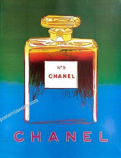 WARHOL Andy (1928-1987) Chanel (vert et bleu)  Tirage digital en couleurs sur papier....