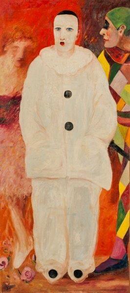 DESNOS Ferdinand (1901-1958) Le clown  Huile sur toile,  signée en bas à gauche  129,5...