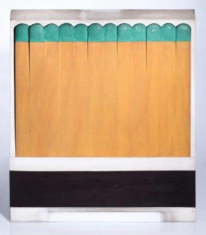 Raymond Hains (1926-2005) SEITA, 1964 Pochette d'allumettes géante en bois peint,...
