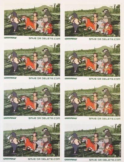BANKSY (Britannique, né en 1975) Save or delete ( Greenpeace print), 2001-2002 Impression...