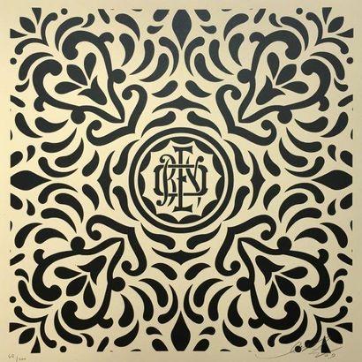 PRINT OBEY Japanase Pattern -black, 2009 Ensemble de quatre sérigraphies sur papier...