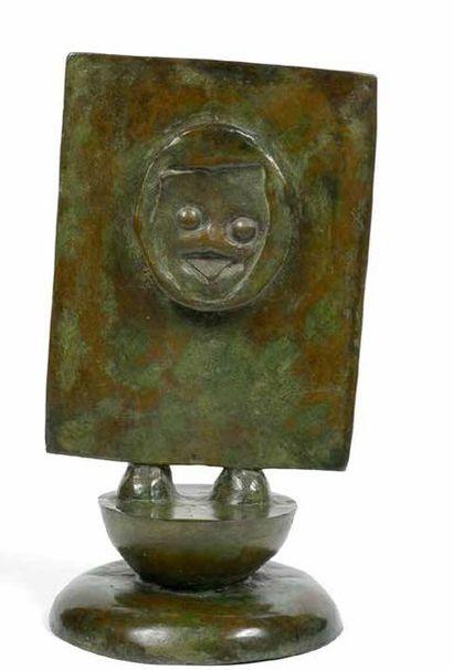 Max ERNST (1891-1976) CHERI BIBI, VERS 1973  Sculpture en bronze à patine brun-vert...