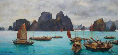 Roger CHAPELET (1903-1995, nommé peintre officiel de la Marine en 1936)