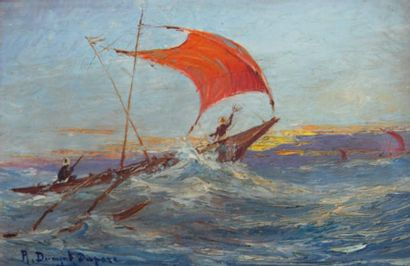 Robert DUMONT-DUPARC (1866-1930, nommé peintre officiel de la Marine en 1909)