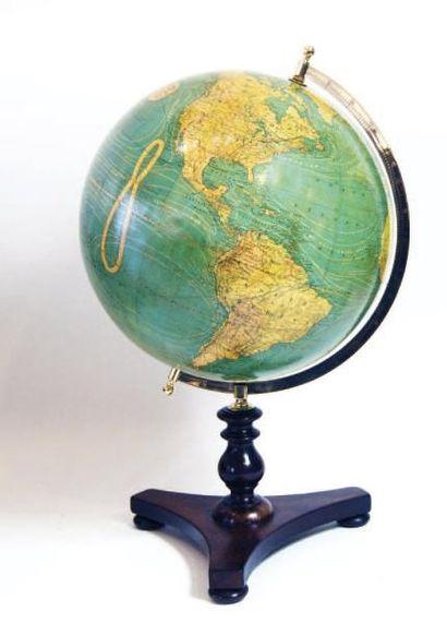 Globe terrestre. Montage par demi méridien...