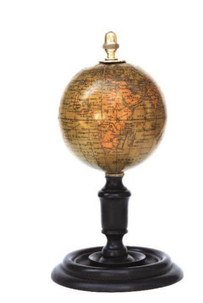 Globe terrestre d'étude. Monture polaire...
