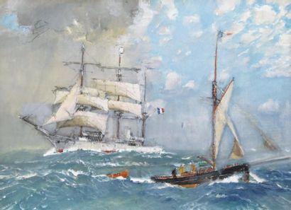 MARIN-MARIE (1901-1987. Nommé peintre officiel de la Marine en 1934), Paul Durand de Saint-Front dit
