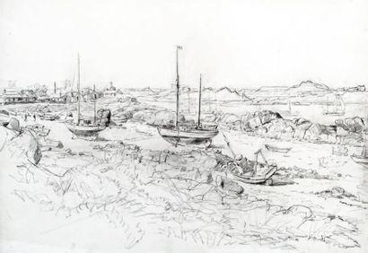 MARIN-MARIE (1901-1987. Nommé peintre officiel de la Marine en 1934) Paul Durand de Saint-Front dit