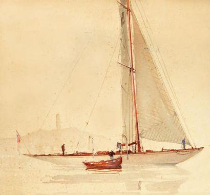 MARIN-MARIE (1901- 1987. Nommé peintre officiel de la Marine en 1934) Paul Durand de Saint- Front di