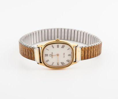 Bracelet montre de dame en acier et métal...
