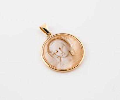 Médaille religieuse de la Vierge en or 750...