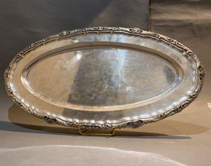 Plat ovale en argent étranger 800 °/°° à...