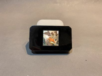 Boîte de beauté Art Déco en laque de forme...